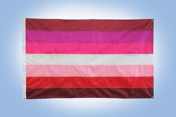 Lesbian Pride Flag 3 X 5 Flag 7 Stripe Lesbian Etsy Pride Flags Lesbian Pride Flag Lesbian Pride