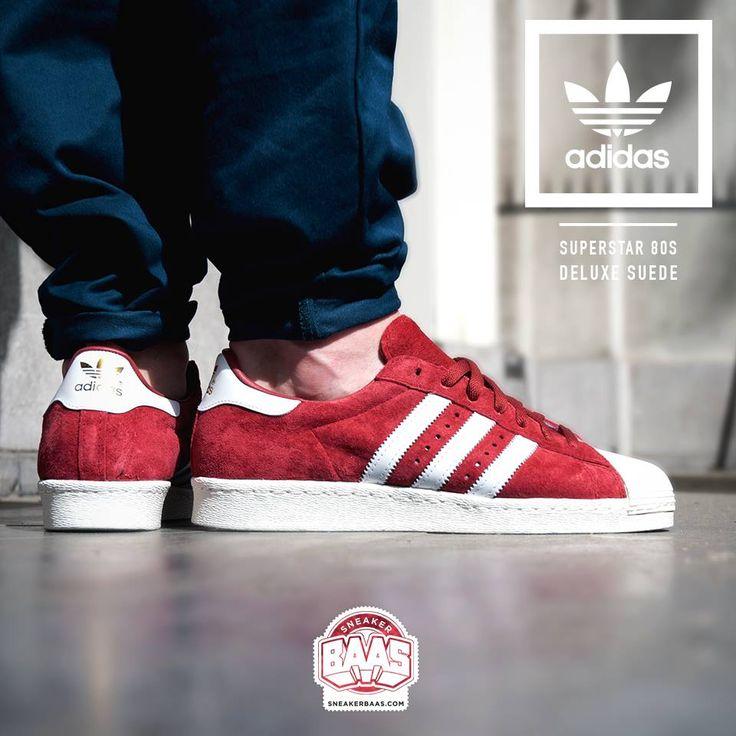 Adidas Superstar Suede Red