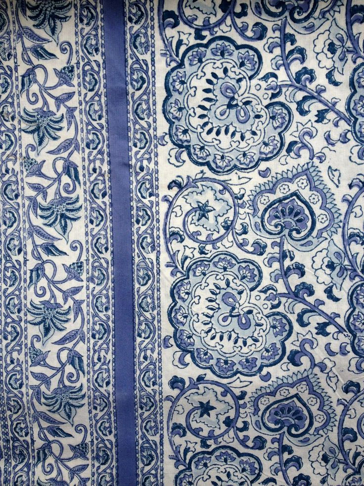 Indian block print. Will be used as a table cloth.