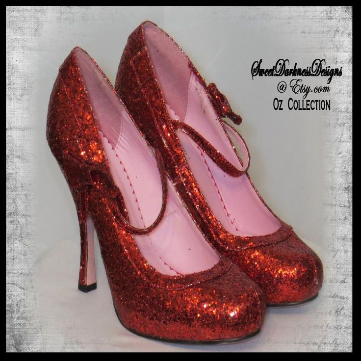Wizard of Oz RUBY SLIPPERS Dorothys Ruby Slippers SIZE 10 High Heel Ruby Slippers Halloween Costumes and Accessories by SweetDarknessDesigns by SweetDarknessDesigns on Etsy