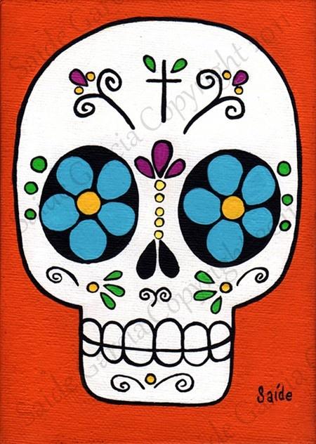 ✢ Viva Dia de los Muertos   sugar skull