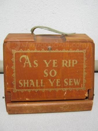 One of the most crafty-fabulous quotes and it was on a sewing box. How fitting! :)
