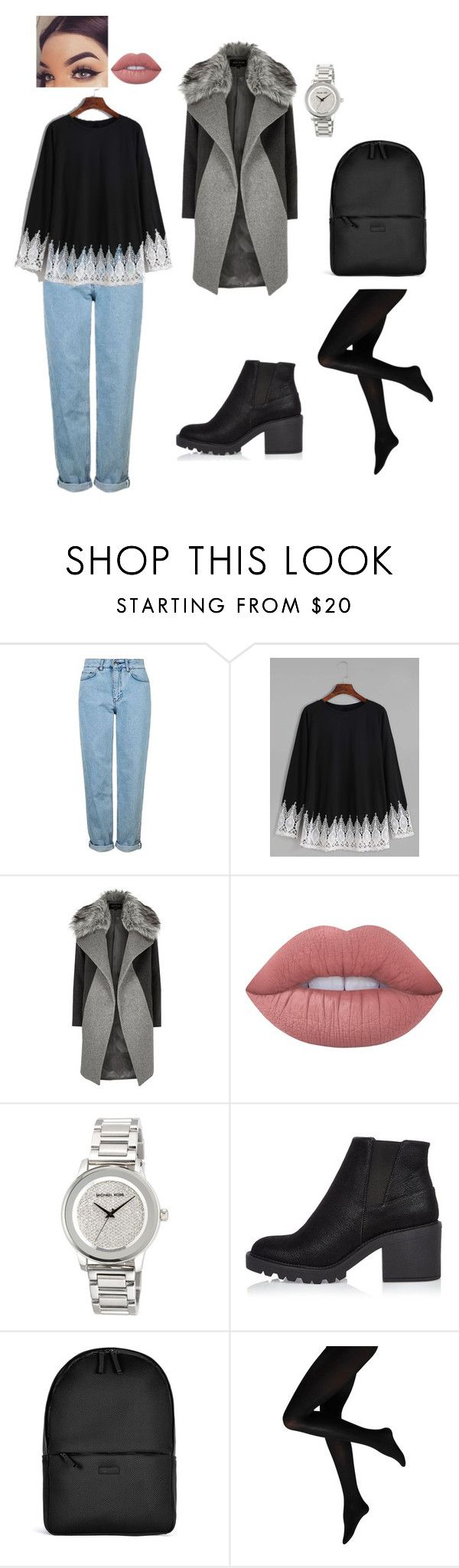 """winter"" by emaabdi on Polyvore featuring Topshop, River Island, Lime Crime, MICHAEL Michael Kors and Rains"
