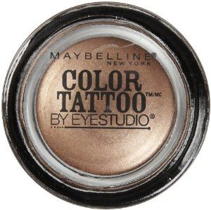Maybelline 24 Hour Eyeshadow, Bad To The Bronze, 0.14 Ounce by Maybelline. $4.99. 24 hour wear without creasing or fading. Unique cream-gel texture. Ink pigments for intense color. Ink intensity. Tattoo tenacity. Dare to wear the longest lasting shadow. Eye studio color tattoo's ink technology creates the mostsaturated shadow. Cream gel smooths on for vibrant, crease-proof color that never fades. Dare to get inked.. Save 29% Off!