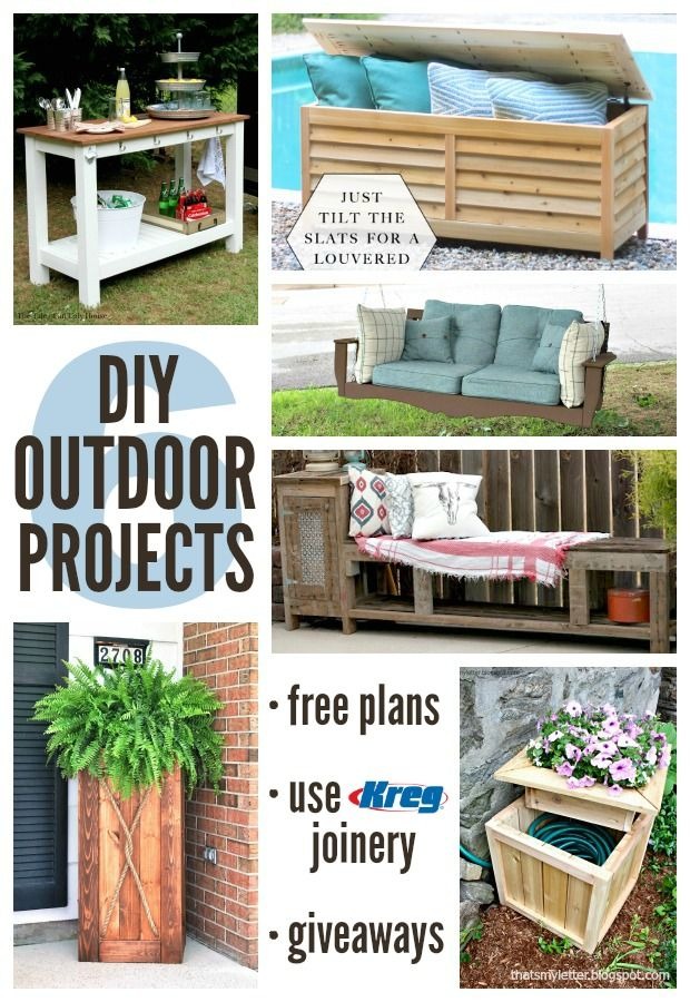 Lots of diy outdoor projects to try diy pinterest for Outdoor wood projects ideas