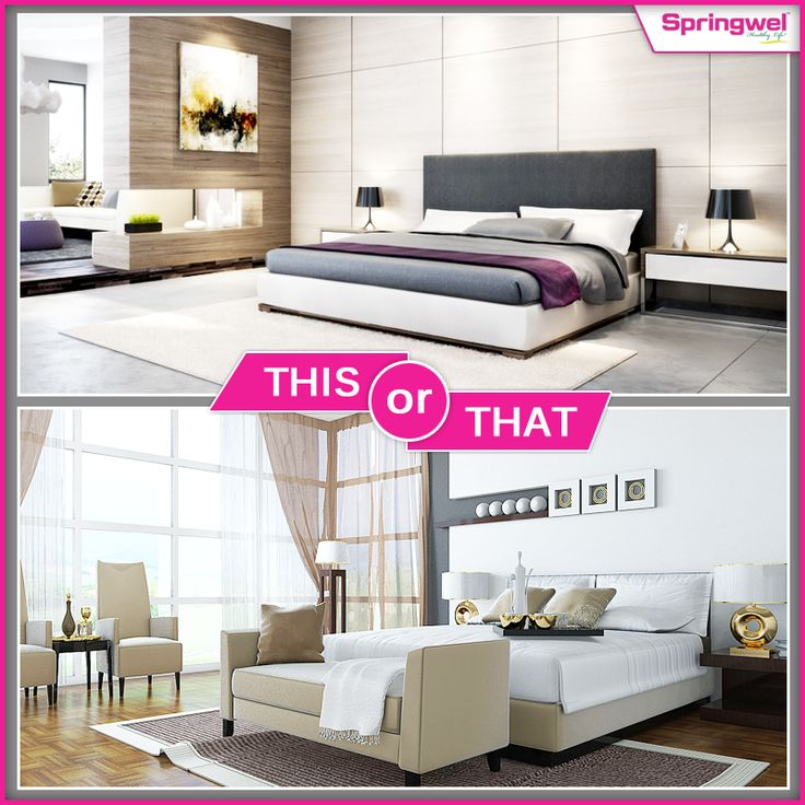 A #Bedroom is a place where you can relax, listen to music, watch tv, & #sleep comfortably. Let us know which one will you choose.