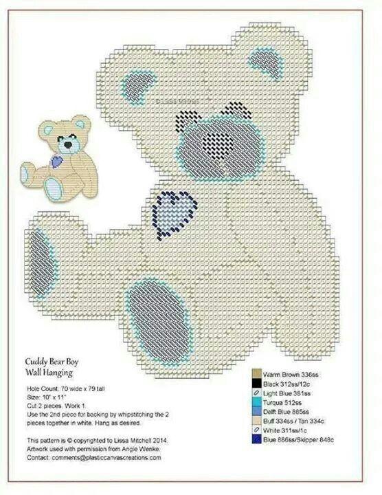 Cuddly Bear Boy Wall Hanging