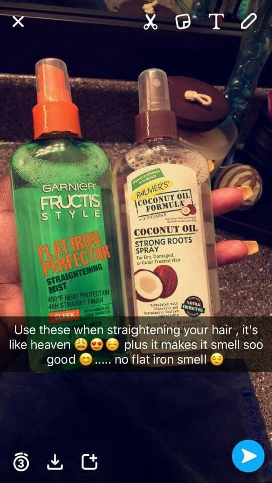 Hair Sprays for flat iron