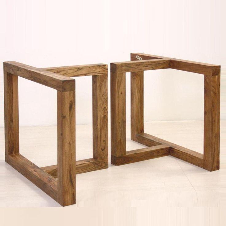 Base in legno per tavolo