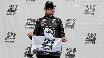 Erik Jones wins XFINITY pole at Texas  Joe Gibbs Racing driver earns first XFINITY win in just ninth series start Play: NASCAR Fantasy Live RELATED: Full race results | Updated series standings FORT WORTH, Texas -- Teenager Erik Jones turned his first NASCAR XFINITY Series pole at Texas Motor Speedway into his first series victory Friday night, schooling NASCAR Sprint Cup Series stars Brad Keselowski and Dale Earnhardt Jr. en route to the checkered flag in the 19th annual O'Reilly Auto Parts…