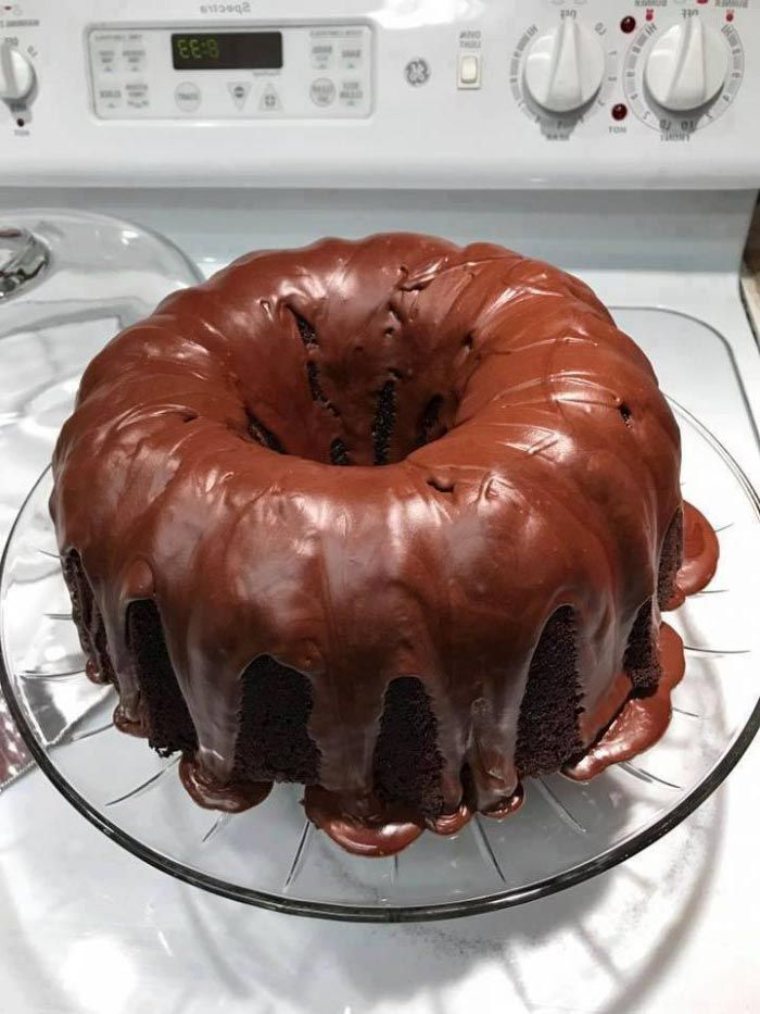 Ingredients: 1 box chocolate cake mix 1 box chocolate fudge brownie mix 4 eggs 1 cup oil 1 1/4th cup water Directions Do not even look at the box directions. All you need is what is listed. Mix all these together. Preheat oven