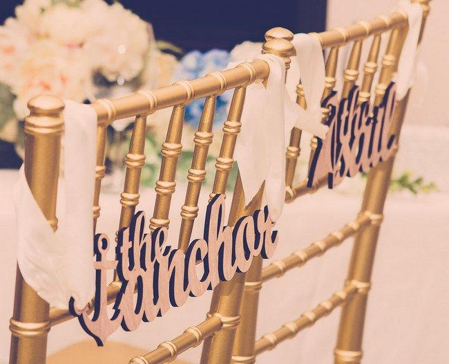 the arbor the sail on back of wedding chairs http://www.itgirlweddings.com/blog/9-reasons-to-have-a-nautical-wedding