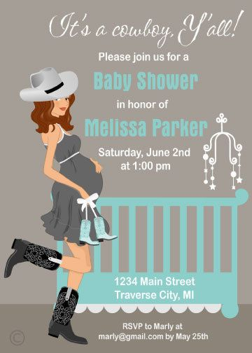 Cowboy Baby Shower Invitation Baby Boy Country by StorkBabyGifts, $1.25