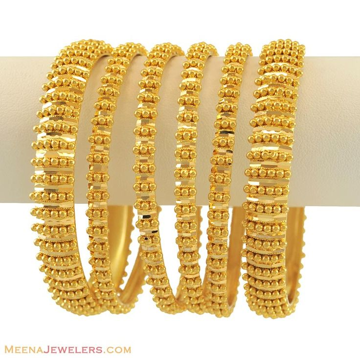 Gold Jewelry | 22Kt Gold Bangles Set
