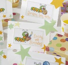 Bugtastic Birthday Cross Stitch Card Shop Issue 100 January/February 2015 Saved