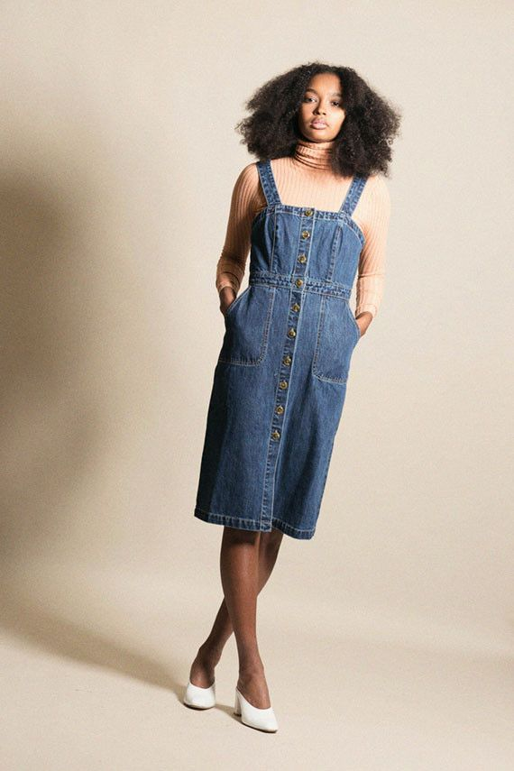 5144706b81 Rachel Antonoff - Denim Barbie Apron Dress | BONA DRAG | BONADRAG ...