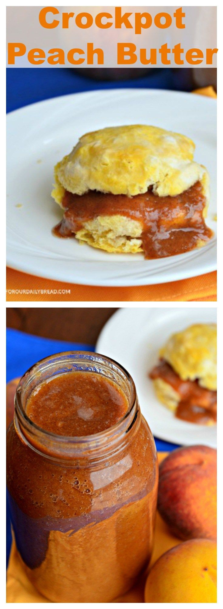 Crockpot Peach Butter is a great way to use your fresh peaches. It is amazing…