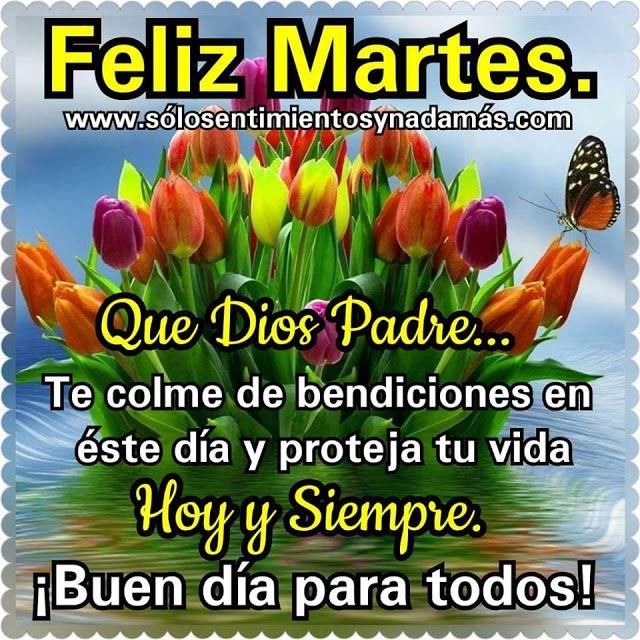 Buen Dia Para Todos Buenos Dias Bendiciones En Este Dia Feliz Martes