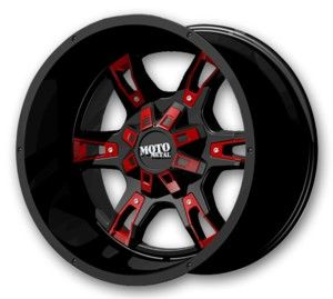 Moto Metal Wheels MO969 20x9 Satin Black w/ Red and Chrome Accents Low Offset (Moto-Metal-Rims-MO969-20-9GBRCAL.s)