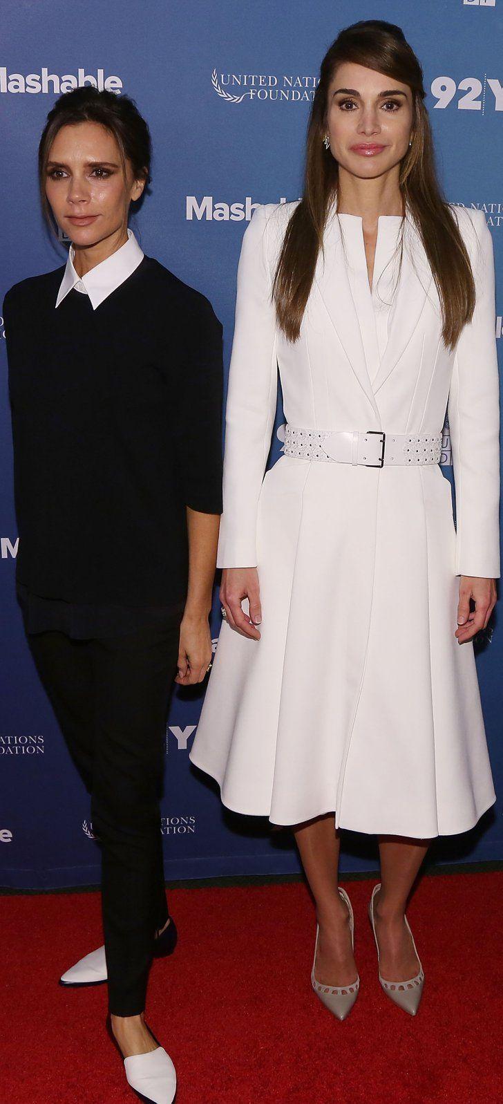 Meet Queen Rania, Victoria Beckham's Totally Posh Style Icon