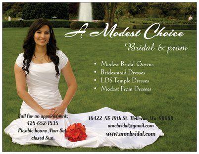 Beautiful A Modest Choice Bridal in Bellevue Washington USA