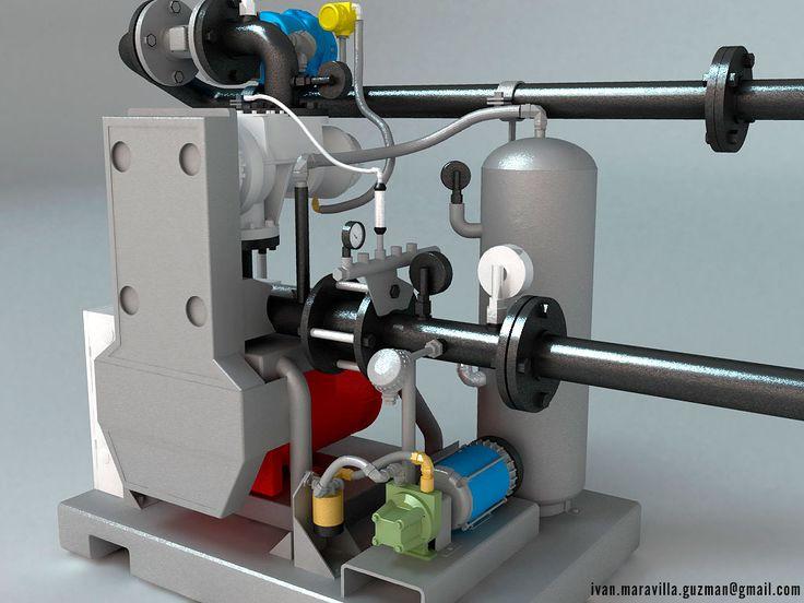 3d VIZ, maquinaria industrial en grafico y planos parametricos