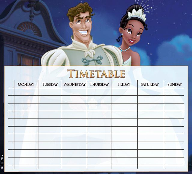 The Princess and the Frog Timetables 04