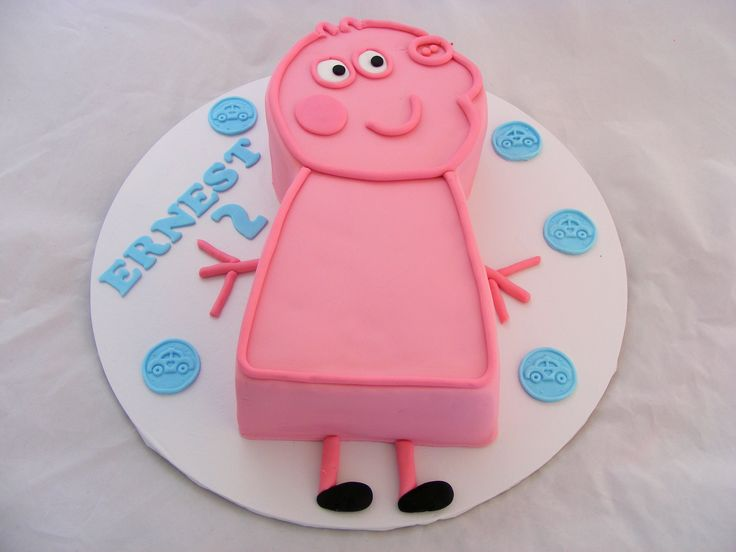 2D Peppa Pig Cakeby My Cake Place http://www.mycakeplace.com.au/ https://www.facebook.com/MyCakePlace