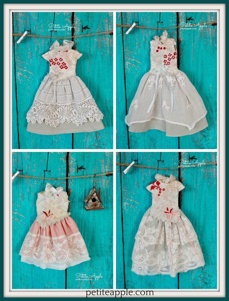Luxury silk collection by Petite Apple. Blythe doll outfits.