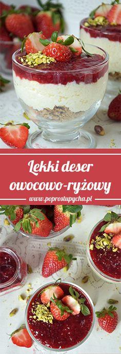Wiosenny, lekki deser owocowo-ryżowy z konfiturą z malin Stovit <3  #poprostupycha #fit #deser #konfitura #ryz
