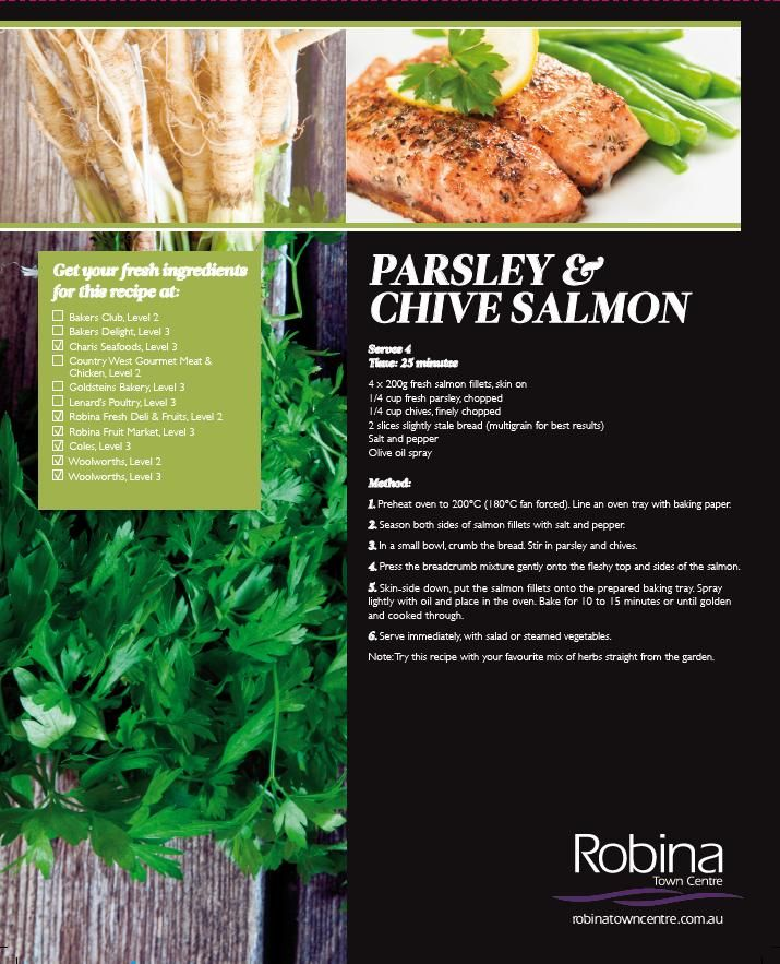 Parsley and chive salmon