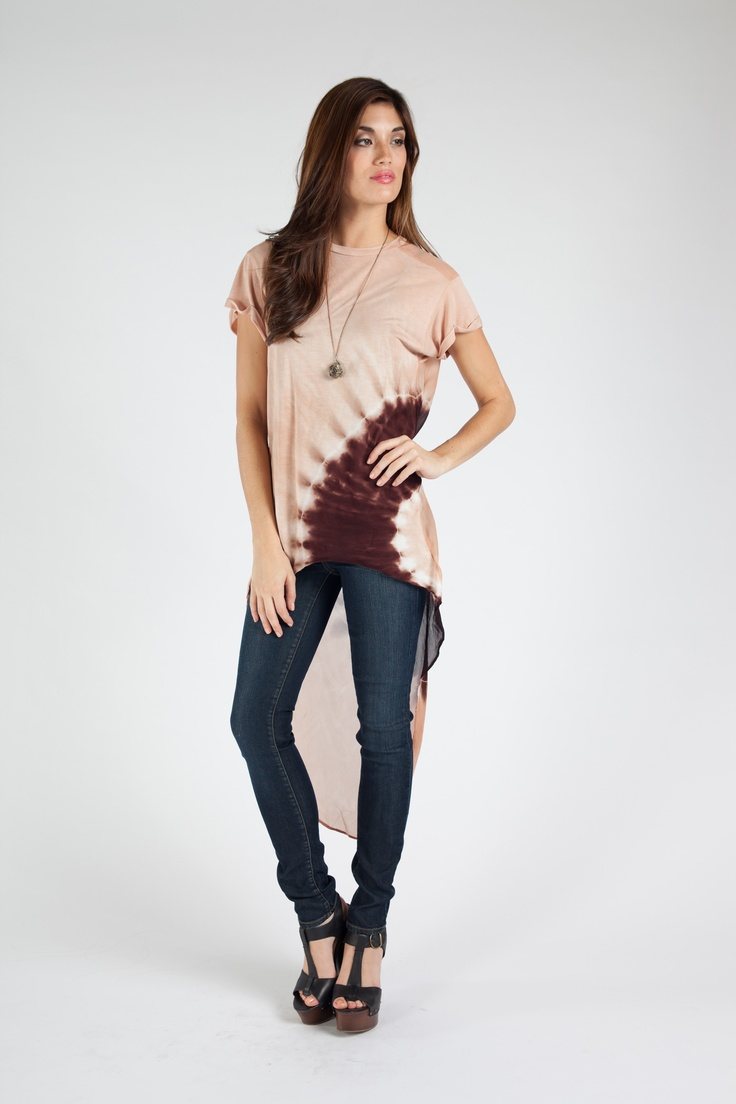 Veda Top in Brown...so cute over leggings with boots and cropped leather jacket!  www.yfbclothing.com
