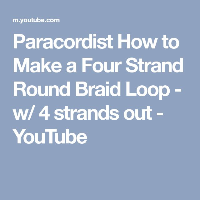 """Search Results for """"Paracordist How To Make A Four Strand Round"""