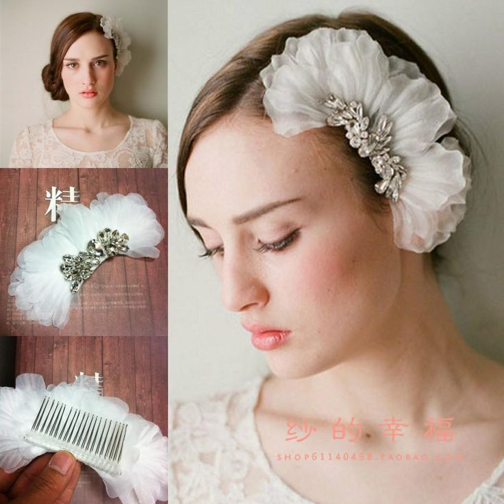 veloce affascinante da sposa accessori capelli da sposa volant cristalli lucenti strass perline ragazze copricapo