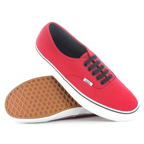 AwesomeNice Vans Authentic Red Black Womens Trainers
