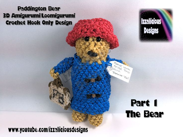 Amigurumi Paddington Bear : Rainbow Loom - Amigurumi/Loomigurumi - Crochet Hook Only ...