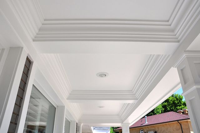 Front Porch Tray Coffered Ceiling Entrances