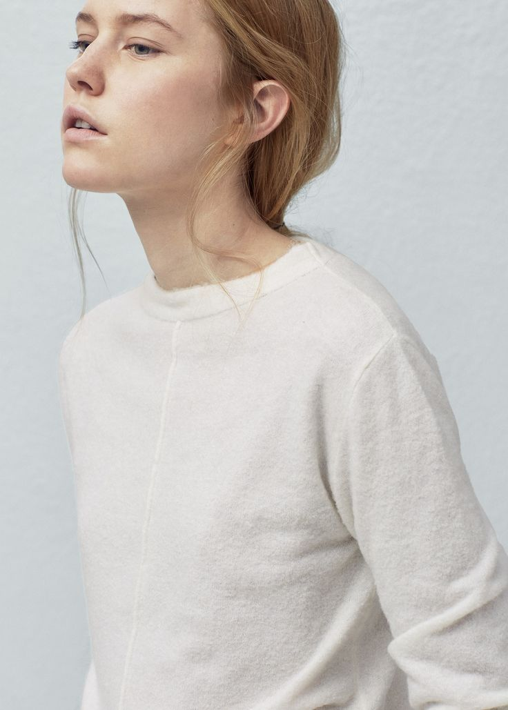Decorative seam wool-blend sweater -  Woman | OUTLET Slovakia