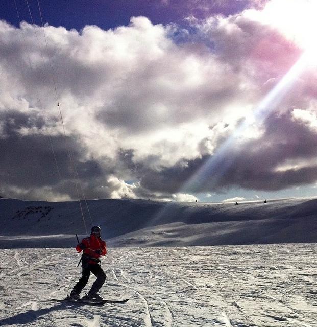 Me snowkiting in Utah