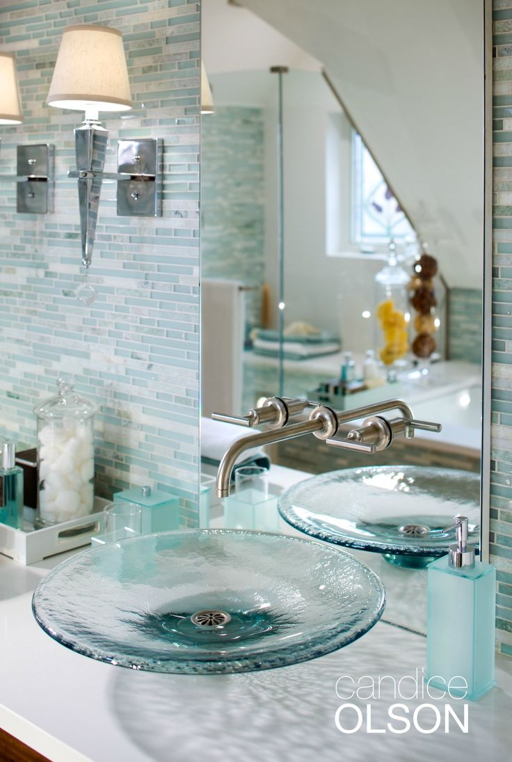 Watery Blue Greens Create That Day Spa Feeling In This Master Bath,  Bringing Hints Of The Outdoors To The Bathroom.