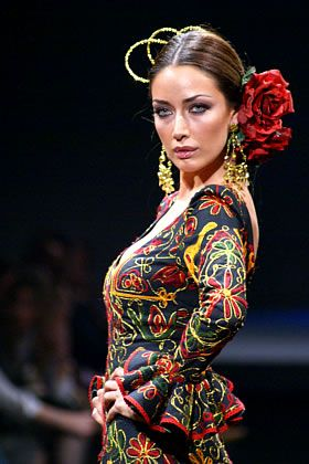 Gorgeous embroidered flamenco dress
