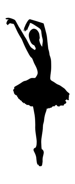 Clever image within ballerina silhouette printable