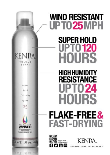 Stylist Choice Award for Favorite Hairspray 9 years in a row, Kenra Volume Spray 25!  | Kenra Professional