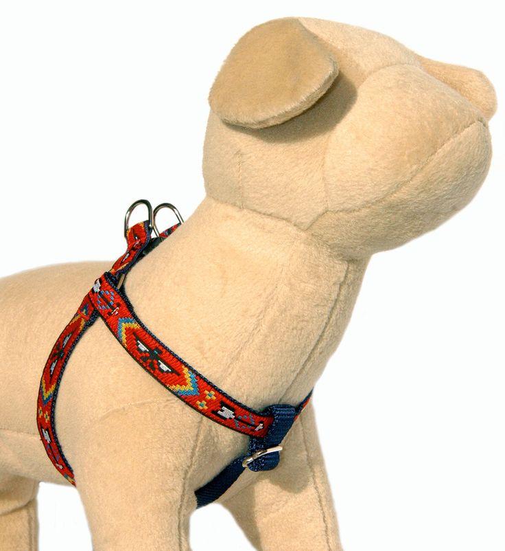 Dog harness / dog harness leash set Southwestern Tribal Navajo Shoshone step in dog harness Small dog Large dog harness  boy dog harness by MaritynDog on Etsy https://www.etsy.com/listing/157956090/dog-harness-dog-harness-leash-set