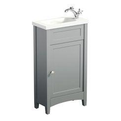 Camberley grey cloakroom vanity with resin basin