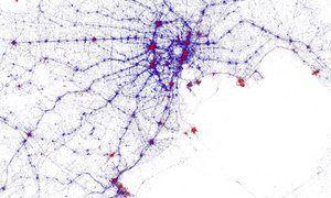 Tokyo tourist heat map - Tourists v locals: city heat maps show where sightseers flock