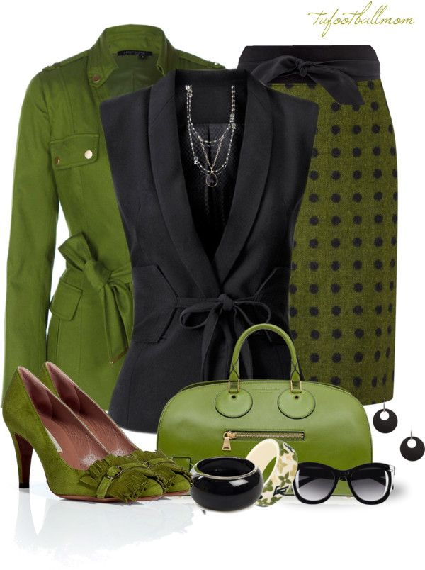 """Black and Green"" by tufootballmom ❤ liked on Polyvore"