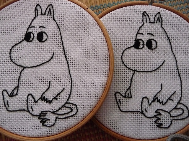 Moomin embroidery by English Girl at Home, via Flickr