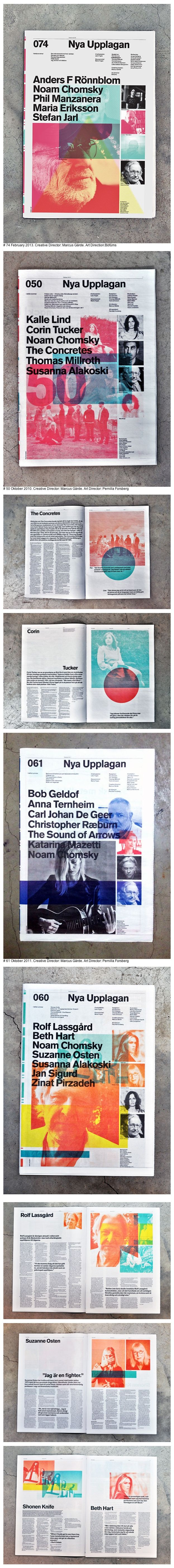 LAYERS This takes layers of text and colour too far... But this is a good direction   Nya Upplagan