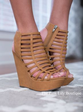 USE DISC. CODE: REPAMIE10 TO SAVE! www.pinklilyboutique.com The Erin Wedges Tan - The Pink Lily Boutique